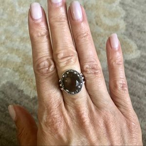 Sterling Marcasite and Stone Ring